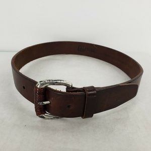Women's Fossil Brown Leather Belt Small S